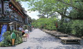 Traditional restaurants in Kenrokuen Garden Kanazawa Japan — Stock Photo