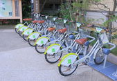 Bicycle hire Kanazawa Japan — Stock Photo