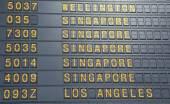 Airport departure board — Stock Photo
