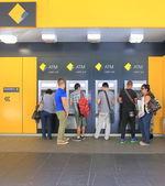 Cash machine queue — Stock Photo