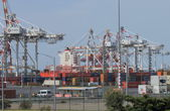 Port of Melbourne dock — Stock Photo