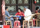 Mahjong Chinese life — Stock Photo