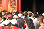 Chinese tourists Beijing Forbidden city — Stock Photo