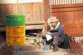 Japanese old man — Stock Photo