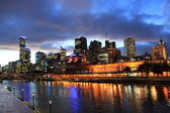 Melbourne night view — Stock Photo