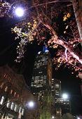 Melbourne downtown night — Stock Photo