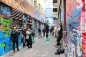 Fotograaf graffiti — Stockfoto