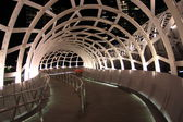 Modern architecture Melbourne night — Stock Photo