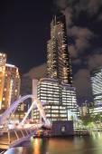 Eureka Tower Melbourne night — Stock Photo