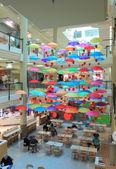 Food court Umbrella — Stock Photo