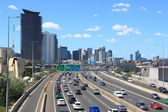 Melbourne traffic jam — Stock Photo
