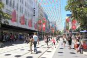 Christmas shopping in Melbourne — Stockfoto