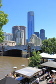 Eureka Tower Yarra river Melbourne — Stockfoto