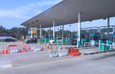 Freeway toll gate Malaysia — Stock Photo