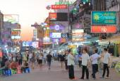 Khaosan Road Bangkok Tourism — Stock Photo