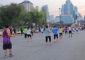 Lumphini Park city lifestyle Bangkok — Stock Photo