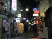 Night life back street Tokyo Japan — Stock fotografie