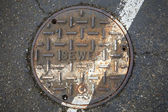 Sewer on the street — Stock Photo