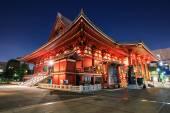 Sensoji temple nighttime — Zdjęcie stockowe