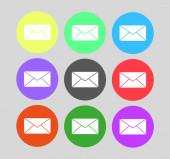 Envelope Mail icon, vector illustration. Flat design style — Vector de stock