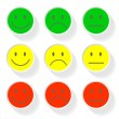 New style smile face icons — Stock Vector #57441969