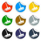 Broom vector icon — Stock Vector