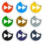 Glossy multimedia icon  forward — 图库矢量图片