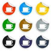 Векторная иллюстрация кофе. плоский стиль дизайна — Cтоковый вектор
