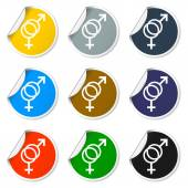 Male and female sex symbol - vector illustration — Stock Vector
