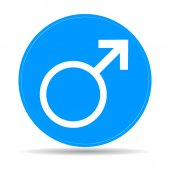Male sign icon.  — Stock Vector