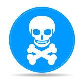 Skull icon isolated. — Stock Vector