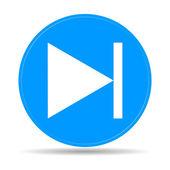 Glossy multimedia icon  next track — Stock Vector