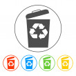 Trash can icon, vector eps10 illustration — Stock Vector #62590901