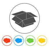 Box illustration. Flat design style — Wektor stockowy