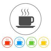 Coffe vector illustration. Flat design style — Stock Vector