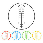 Thermometer vector icon illustration. — Stock Vector