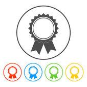 Vector medallion icon — Stock Vector