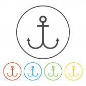 Anchor symbol  — Stok Vektör