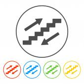 Staircase symbol  — Stock Vector