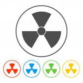 Radiation symbol — Stock Vector