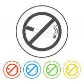 No smoking sign. Vector isolated. — Stock Vector