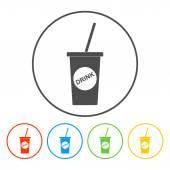 Soft drink icon — Vetor de Stock