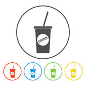 Soft drink icon — Stock Vector