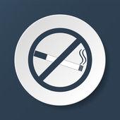 No smoking sign. Vector isolated. — Stock Vector