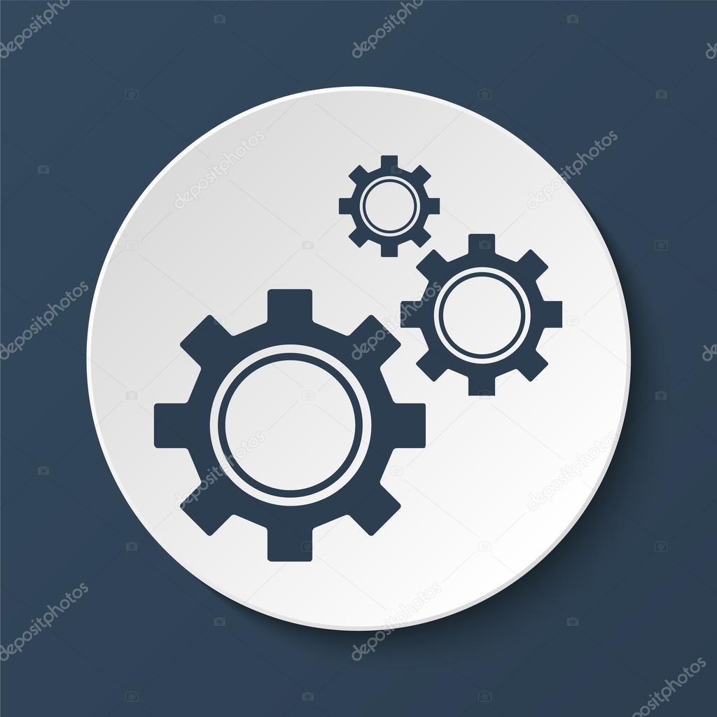 齿轮图标,矢量图.平面设计风格