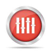 Equalizer icon. Flat — Stock Vector