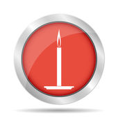 Candle icon. — Stock Vector