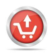 Shopping cart Flat  — Stock Vector