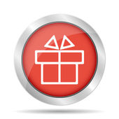 Gift box itson - vector icon — Stockvector