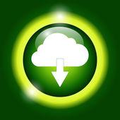 Cloud icon, vector illustration. — Stock Vector